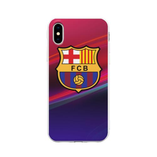 Чехол для iPhone X матовый ФК Барселона