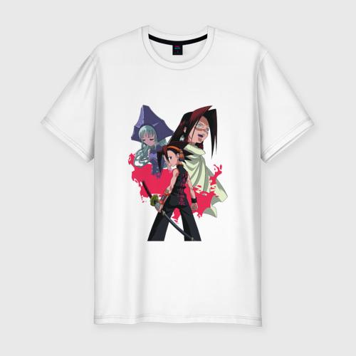 Мужская футболка хлопок Slim Shaman King