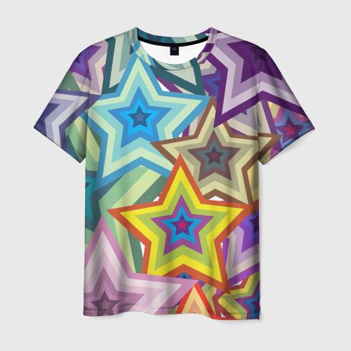 Мужская футболка 3D Звездопад
