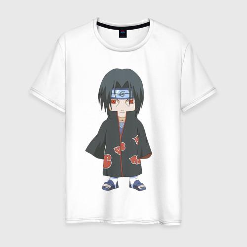 Мужская футболка хлопок Милый Итачи
