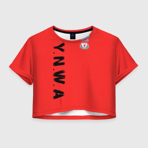 Женская футболка Crop-top 3D Ливерпуль