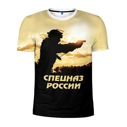 Мужская футболка 3D спортивная Спецназ России