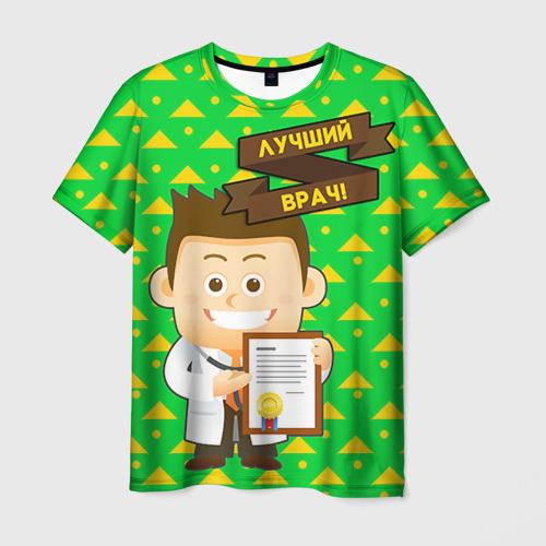 Мужская футболка 3D Лучший врач