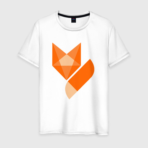 Мужская футболка хлопок Лиса минимализм