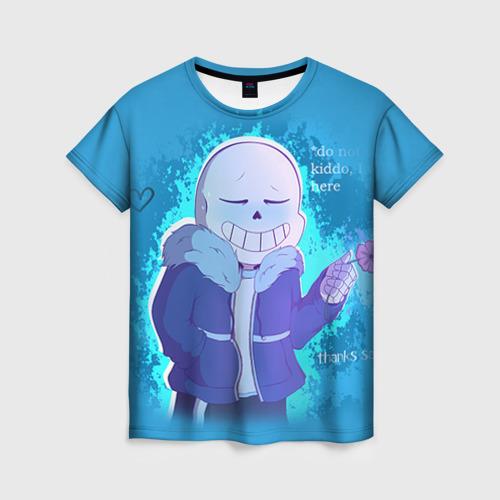 Женская футболка 3D winter Sans