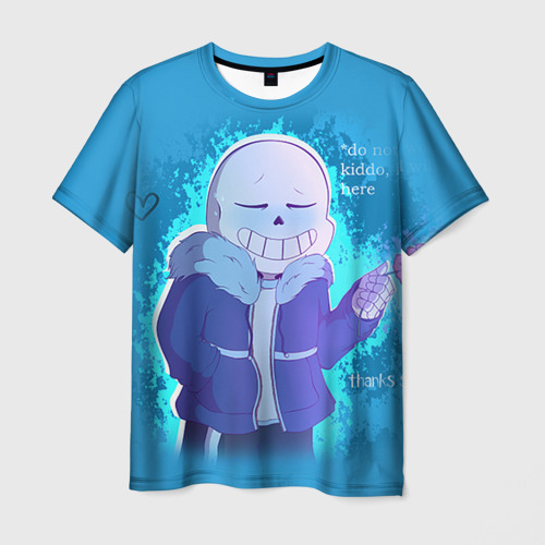 Мужская футболка 3D winter Sans