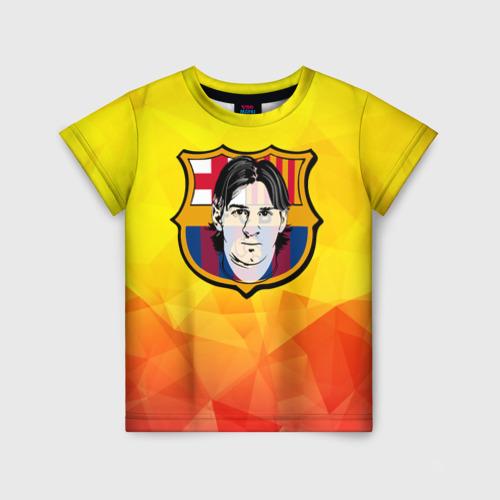 Детская футболка 3D Месси - Барселона
