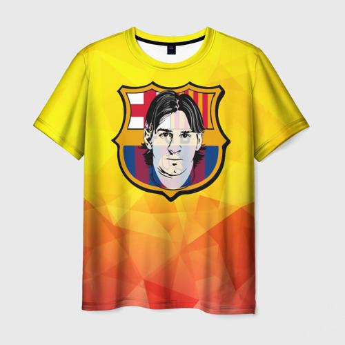 Мужская футболка 3D Месси - Барселона
