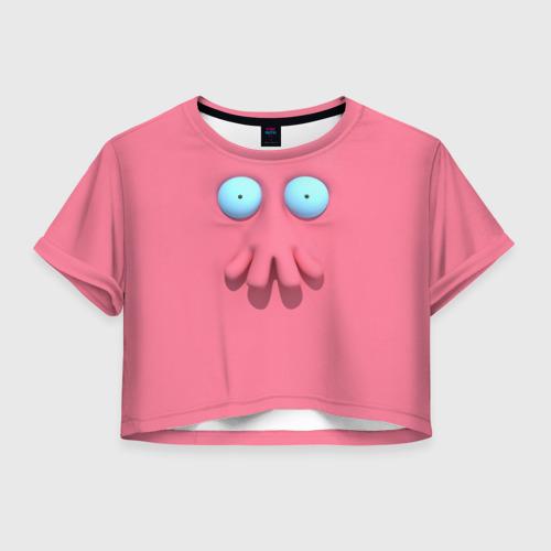 Женская футболка Crop-top 3D Доктор Зойдберг