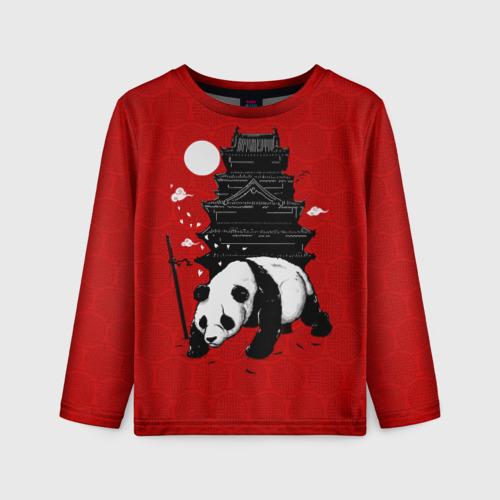 Детский лонгслив 3D Panda Warrior