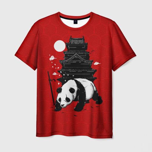 Мужская футболка 3D Panda Warrior