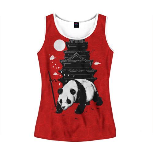 Женская майка 3D Panda Warrior