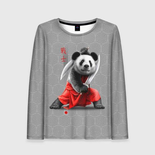 Женский лонгслив 3D Master Panda