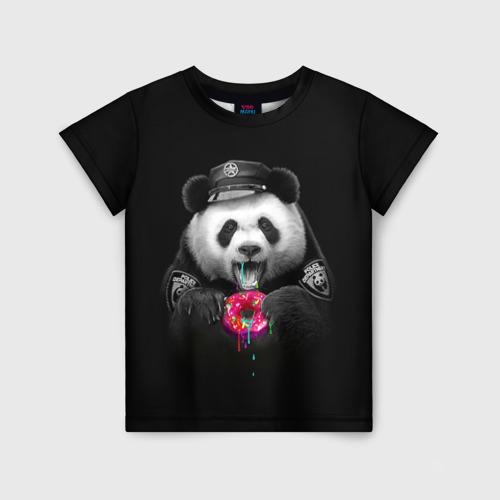 Детская футболка 3D Donut Panda