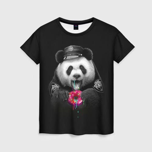 Женская футболка 3D Donut Panda
