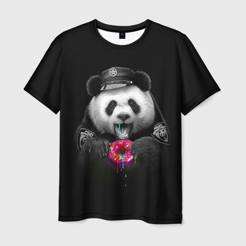 Мужская футболка 3D Donut Panda