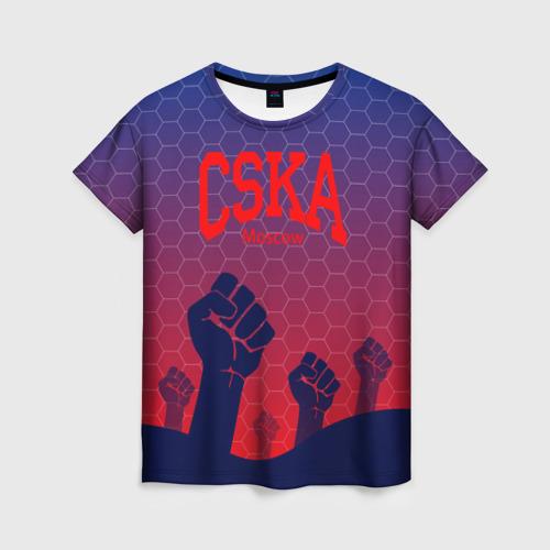 Женская футболка 3D CSKA Msk