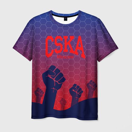 Мужская футболка 3D CSKA Msk