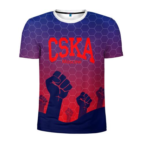 Мужская футболка 3D спортивная CSKA Msk