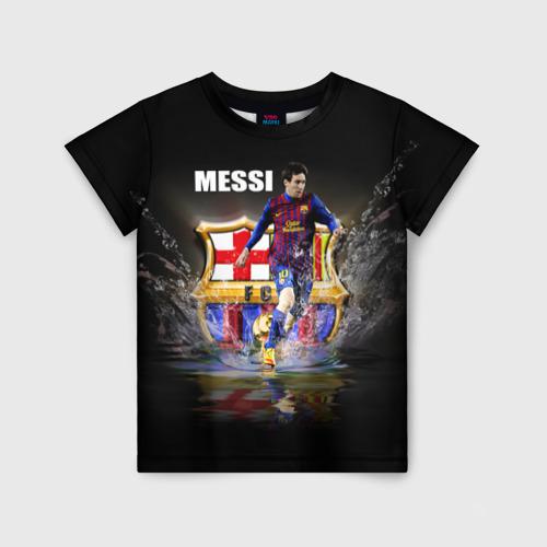 Детская футболка 3D Месси