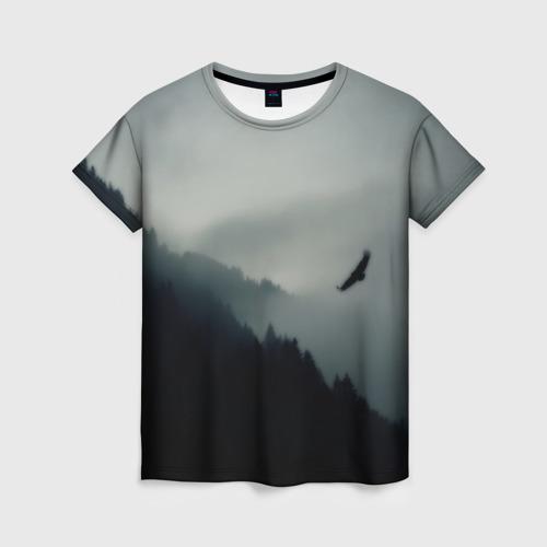 Женская футболка 3D Орёл