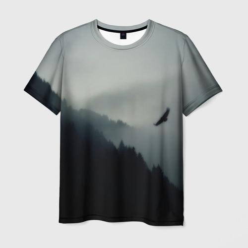 Мужская футболка 3D Орёл