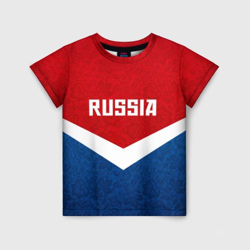 Детская футболка 3D Russia Team