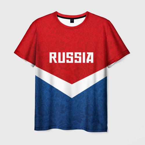 Мужская футболка 3D Russia Team