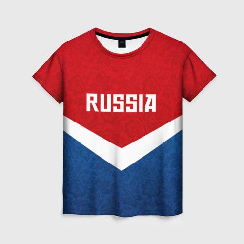 Женская футболка 3D Russia Team