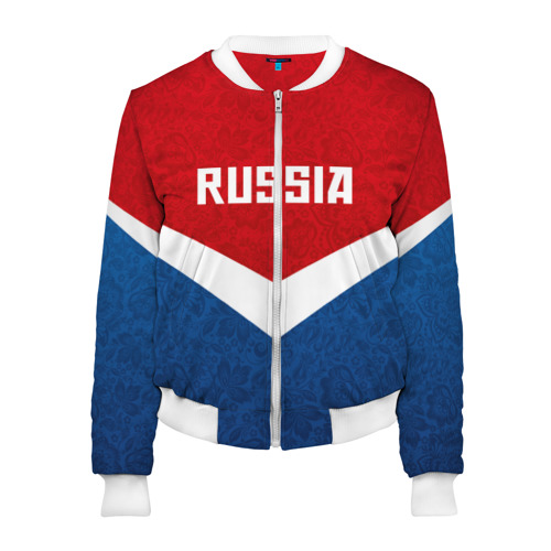 Женский бомбер 3D Russia Team