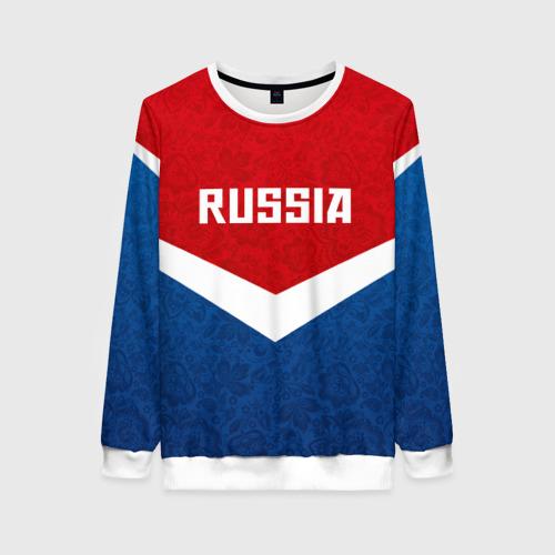 Женский свитшот 3D Russia Team