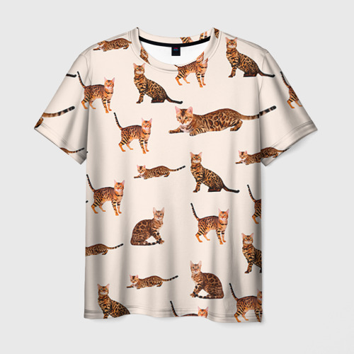 Мужская футболка 3D Котейки дольче 2