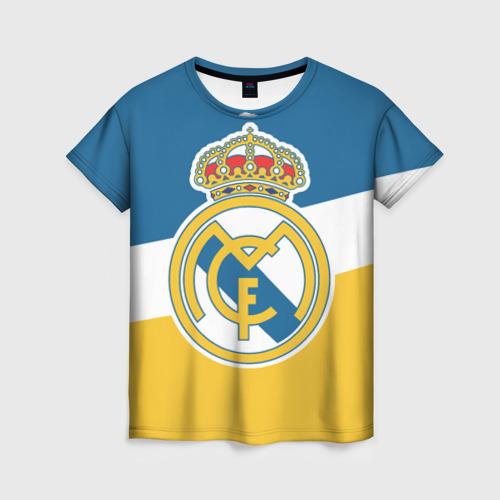 Женская футболка 3D РЕАЛ МАДРИД