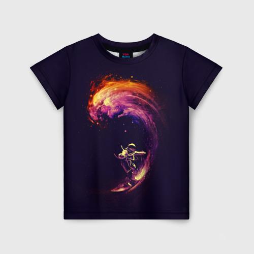 Детская футболка 3D Космический серфинг