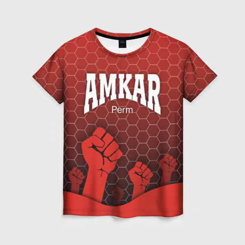 Женская футболка 3D Amkar Perm