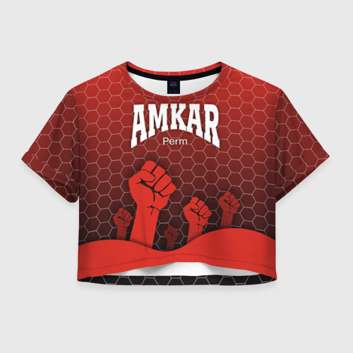Женская футболка Crop-top 3D Amkar Perm