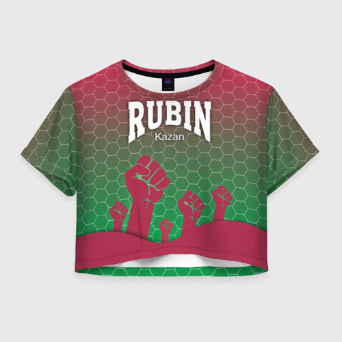 Женская футболка Crop-top 3D Rubin Kazan