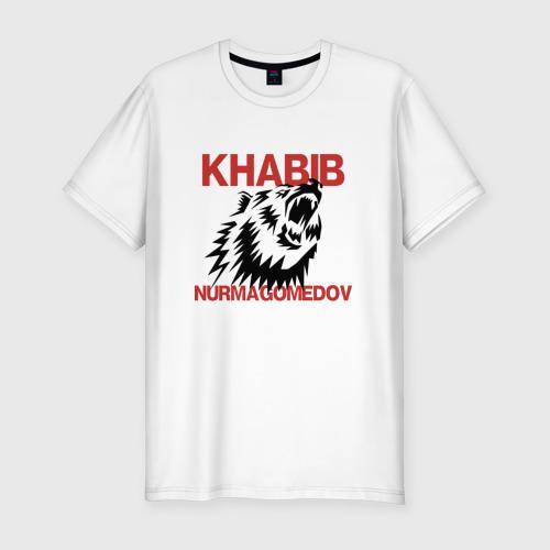 Мужская футболка хлопок Slim Хабиб Нурмагомедов