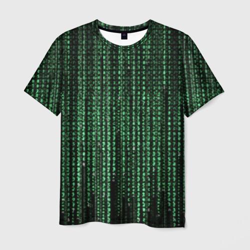 Мужская футболка 3D Матрица