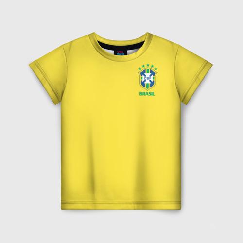 Детская футболка 3D Сборная Бразилии