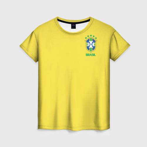 Женская футболка 3D Сборная Бразилии