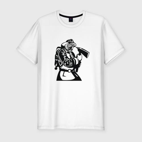 Мужская футболка хлопок Slim МЧС