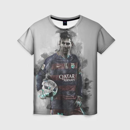 Женская футболка 3D Lionel Messi