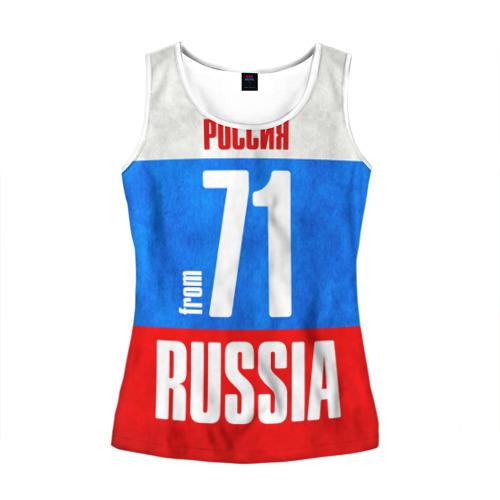 Женская майка 3D Russia (from 71)