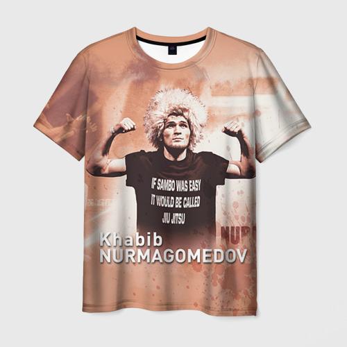 Мужская футболка 3D Хабиб Нурмагомедов