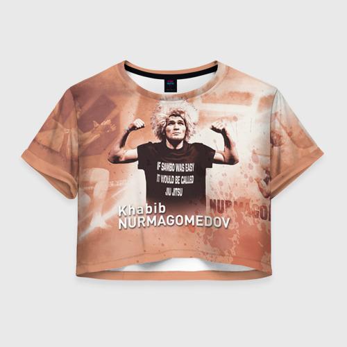 Женская футболка Crop-top 3D Хабиб Нурмагомедов