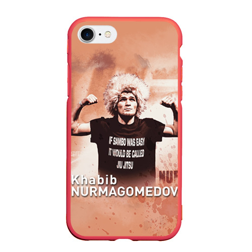 Чехол для iPhone 7/8 матовый Хабиб Нурмагомедов