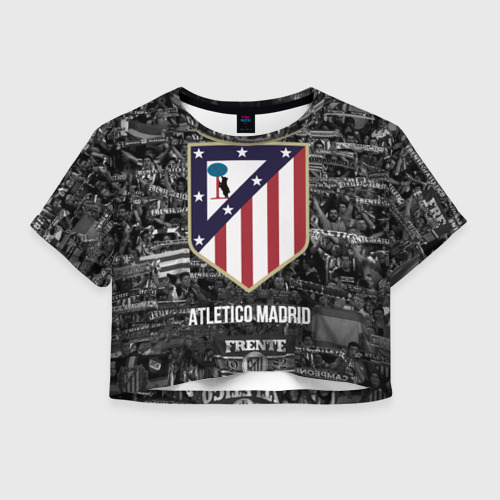 Женская футболка Crop-top 3D Атлетико Мадрид