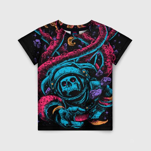 Детская футболка 3D Космический осьминог