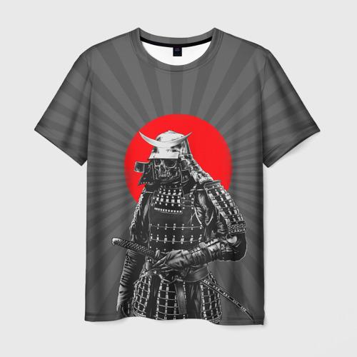 Мужская футболка 3D Мертвый самурай